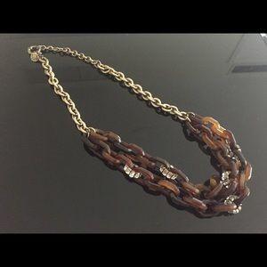 J. Crew Jewelry - J. Crew Tortoise Shell & Diamond Chain